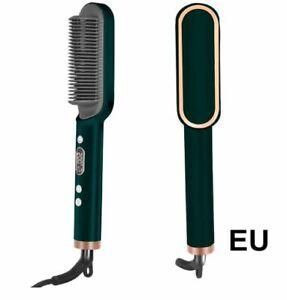 Professional Tourmalin Ceramic Hair Straightener Hair Iron Curler Brush Comb LCD