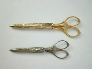 2 Pair Matching SMF Solingen Germany Sewing Scissors with Cases