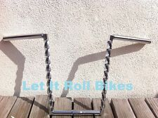"""BICYCLE HANDLEBAR 14"""" SQUARE TWISTED CHROME CRUISER LOWRIDER CYCLING BIKES"""