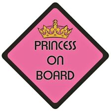 PRINCESS ON BOARD Vehicle Car Window Warning Sticker Sign Decal Vinyl