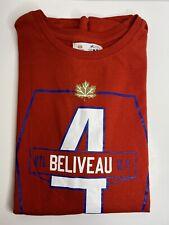 Vintage Molson Canadian JEAN BELIVEAU Montreal Canadiens Stanley Cup T-Shirt #4