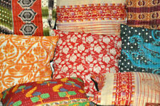 2 Pc Kantha Cushion Indian Handmade Pillows Gypsy Pillow Boho Pillow Cover Throw