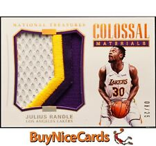 2017-18 Julius Randle National Treasures Colossal Bronze Game Worn Patch /25
