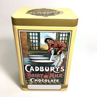 Cadbury's Chocolate Advertising Tin/Metal Canister (Empty), Made In UK, Yellow