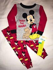 NEW NWT Boys Size 18 Months Disney Mickey Mouse Sleepy Pajamas Pjs Sleepwear