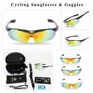5 Lens Cycling Polarized Sunglasses Photochromatic Goggles Glasses Outdoor UV400