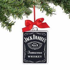 Old No 7 Rectangle Ornament Jack Daniel Glass Christmas Ornament Enesco NWT 4