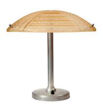 """Original Art Deco Bankers Lamp """" Baton Rouge """" 1930 Nickel Plated Table Lamp"""