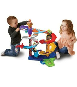 VTech Toot Toot Drivers Twist And Race Tower 5 SPIRAL LEVELS cars vehicles track