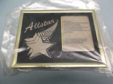 """Allstar photo frame fits 3 x 4 photo black & gold 6 x 8 overall 1/2"""" thick"""