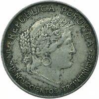 COIN / PERU 1939 5 CENTAVOS    #WT19493