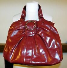 Tommy & Kate large deep red patent leather shoulder tote bag