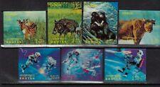 BHUTAN 3D stamps,MH LOT OF 7 values,CV:$30.00