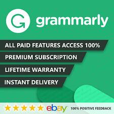 Grammar ly 🌟 Premium Account LIFETIME WARRANTY 🌟 INSTANT DELIVERY 100% ✔️