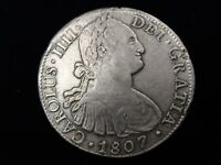 "1807 Mexico 8 Reales TH ""America's 1st Silver Dollar"" Real Pirate Treasure"