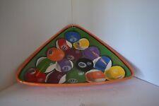 Vintage Pool Ball Tray Bowl Rack Em Up Clay Art