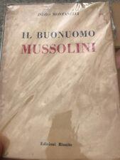 Il Buonuomo Mussolini 1947 1a Edizione Indro Montanelli