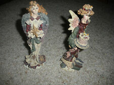"BOYDS BEARS & FRIENDS FOLKSTONE ""BEATRICE THE BTHDAY ANGEL"" & ""ANGEL OF PEACE"""