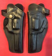 Black Leather RH Holster for M1895 Nagant revolver formed molded, New, Rare