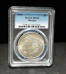 1921 Morgan Silver Dollar- PCGS MS63- Vam 41B Pitted Reverse!  Die Polish-  2438