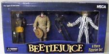BEETLEJUICE 4 PIECE ACTION FIGURE SET NECA BEETLEJUICE HARRY WITCH  NRFB MINT