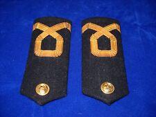 Vintage Pair Epaulettes Shoulder Boards Insignia Assistant Ensign Greek Navy #2