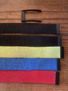 Whoop Strap Bands 3.0 — 2 Black, 1 Neon, 1 Blue, 1 Red Also 1 Black Clasp