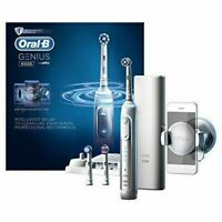 Braun Oral-B GENIUS 8000 Rechargeable Electric Toothbrush - Platinum Brand New