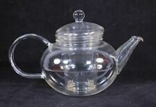 Jenaer Glas Mikado Teapot with Glass Strainer. Made in Germany