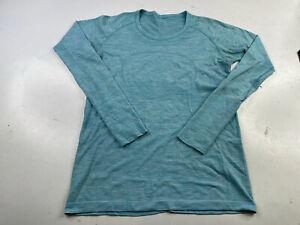 Lululemon Long Sleeve Swiftly Tech Shirt Light Blue Size 12 Lightweight Seamless