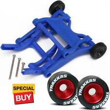 Traxxas Blue Wheelie Bar  / Red Alum Wheels & Rubber Tires :Stampede VXL /Bandit