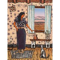 Bradley White Earth Ojibwe Married Woman Painting XL Canvas Art Print
