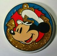 Vintage Rare Plastic Monogram Cruise Walt Disney World Mickey Mouse Retro Button