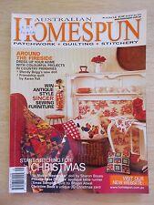 Australian Homespun #12~Xmas~Quilts~Doll~Sampler~Tapestry~Santa~Apron~Runner...