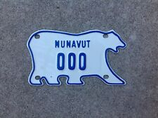 "CANADA - ""NUNAVUT"" - POLAR BEAR - SAMPLE - MOTORCYCLE LICENSE PLATE"