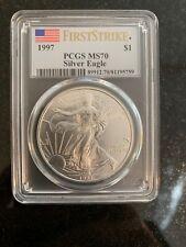 1997 $1 Silver American Eagle MS70 PCGS FIRST STRIKE Pop 7