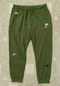 Men's L Nike Sportswear Essentials+ French Terry Jogger Athletic Pants Green