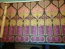 Wide Contemporary Floral Prepasted Wallpaper Border Jw105103B