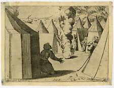 Rare Antique Master Print-RELIGION-MOSES-Raphael-Lanfranco-1607