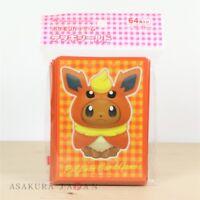 Pokemon Center Original Card Game Sleeve Eevee Poncho Series Flareon 64 sleeves