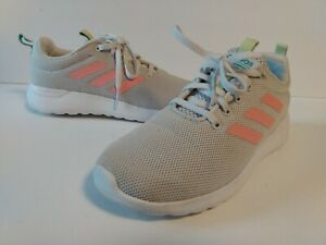 Kids Adidas Cloudform Shoes Size 3 Gray Pink