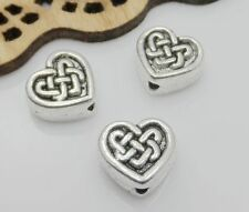 30Pcs Tibetan Silver Heart Spacer Beads Fit Jewelry Making 6x3mm Free Ship