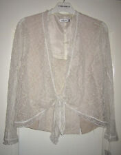 Gold By Michael H  - Champagne Lace 3 Piece Jacket & Trousers New With Tags UK12