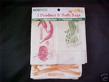 ECOBAGS® Set of 3 Printed Cotton Produce & Bulk Bags Set