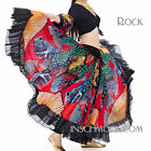 C228 Costume Danza Ventre Gonna Da Flamenco Tribale Gonna Circolare