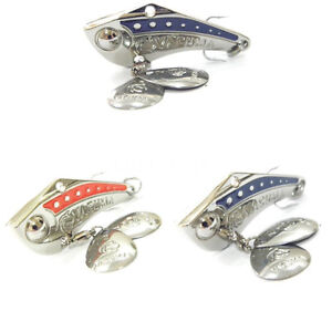 wLure Spin Sonic spin Tail Metal Fishing Lures For Bass fishing Red Blue SP8
