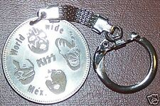 KISS Classic Faces Mexican Coin Key Chain Keychain NM