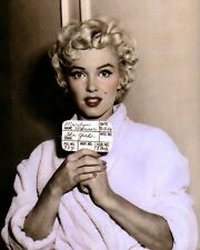 "MARILYN MONROE THE SEVEN YEAR ITCH 1955 ACTRESS 8x10"" HAND COLOR TINTED PHOTO"