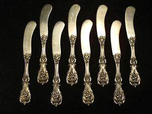 "NICE SET/8  REED & BARTON ""FRANCIS I""  BUTTER SPREADERS"