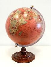 Mappamondo globo con base in legno h 44 di fattura artiglianale